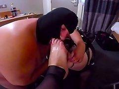 Footfuck & Ass to mouth