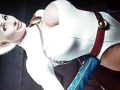 Marie-Claude Bourbonnais Cum Tribute 03 Power Girl Cosplay