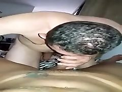 Client sucking my cock