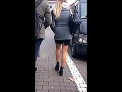 78 Sexy girl with long legs in mini skirt and pantyhose