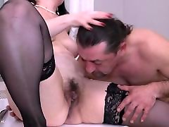 Naughty housewife Ilsa gets big cock in hd oral creamping cunt