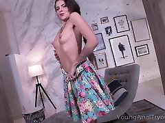 Young Anal Tryouts - alana alx babe teases dude with her perfect