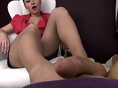 Feet in xxx nice hd footjob therapy