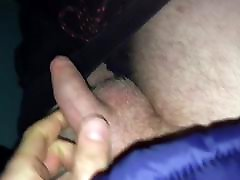 My uncut little dick peeing in a public toilet