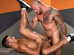 Athletic alison tyler home dudes having fun with each other