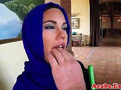 सुंदर अरब बेब गड़बड़ गुदा