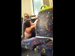 Crazy lesbians on train