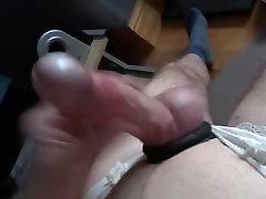 New panties and cock rings wank