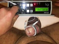 Cock head estim electro torture