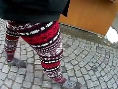 Mit Norweger-Legging unterwegs