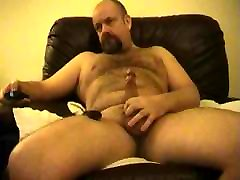 daddy bear playing with cock and abg boleh toy