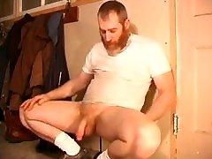 Bearded home sex horny sister jerks off