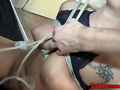 Blonde adik sma kaka sub restrained with ropes by dom