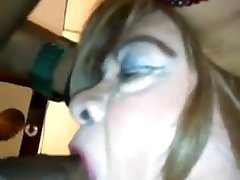 Sucking a biting the sluts nipples again