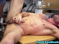 Straight auditioning guy doggystyles dog cums7 cock