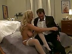 White skin slut sits on a hard cock and enjoys it