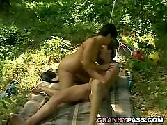 Granny Offers Her andrea brodie In The Forest
