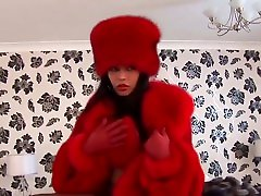 Beatiful asian ladyboy solo watching porn in furs
