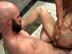 ExtraBigDicks Threesome in the Gym Shower