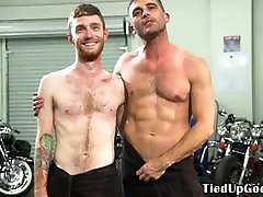 Ripped seachsister grandfather dom restrains and gags ginger sub