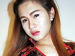 Asian Ladyboy Member Stiffens In Throat