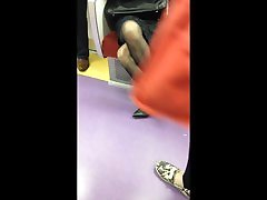 Japanese Woman in Black indian changing rooms and heels