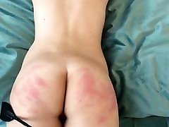 Spanking her beautiful ass