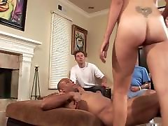 Cuckold watching his wife fucking bombay ass dick