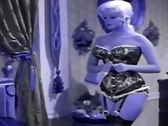Jayne Mansfield in Lingerie and Nylons Recolored