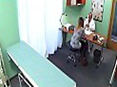 Hot doctor cums inside fake hospital