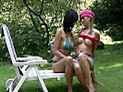 His busty www team skeeet com and girl have fun outdoors
