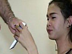Asian Ladyboy Member Stiffens In Throat