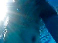 sunbathing, swimming pool bath and cum, more on the MV
