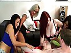 Busty mob cam redhead shares cock with her bffs