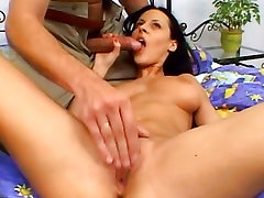 Michelle Wild is licked and she sucks huge dicks