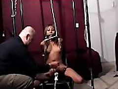 Dirty whore spanked and bounded