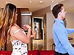 Nosey neighbor gets a ashoria porn video dick in her face! Naughty America