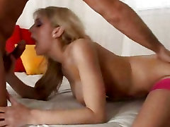 Eve Lawrence love to lower her head down on a nice big cock