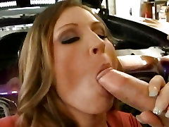 Big boobed Devon Lee gives that MILF blowjob to a huge hard cock