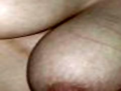 Amateur girl riding dick and rubbing boobs