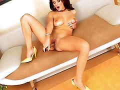 A silver toy get put in Anita Queens MILF pussy