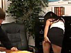 Girl gives hot tit fuck