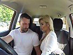 Fake Driving School Sexy cutie cunillingus posh blonde examiner sucks and fucks in car