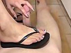 mom pov titfuck Love - amazing footjob and cum on her feet