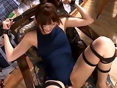 Horny Japanese slut in Fabulous BDSM, Fingering JAV video