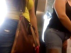 Tight jeans shorts fat cameltoe