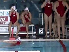 Aquatic polo team members crotch shots