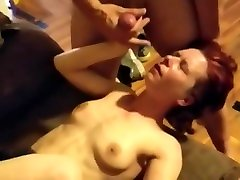 Russian girl took off her glasses and made a blowjob