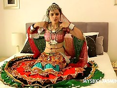 Charming couples sey int cuck4 Girl Jasmine In Gujarati Garba Dress