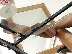 MILF Nylon Leg & Foot Tease